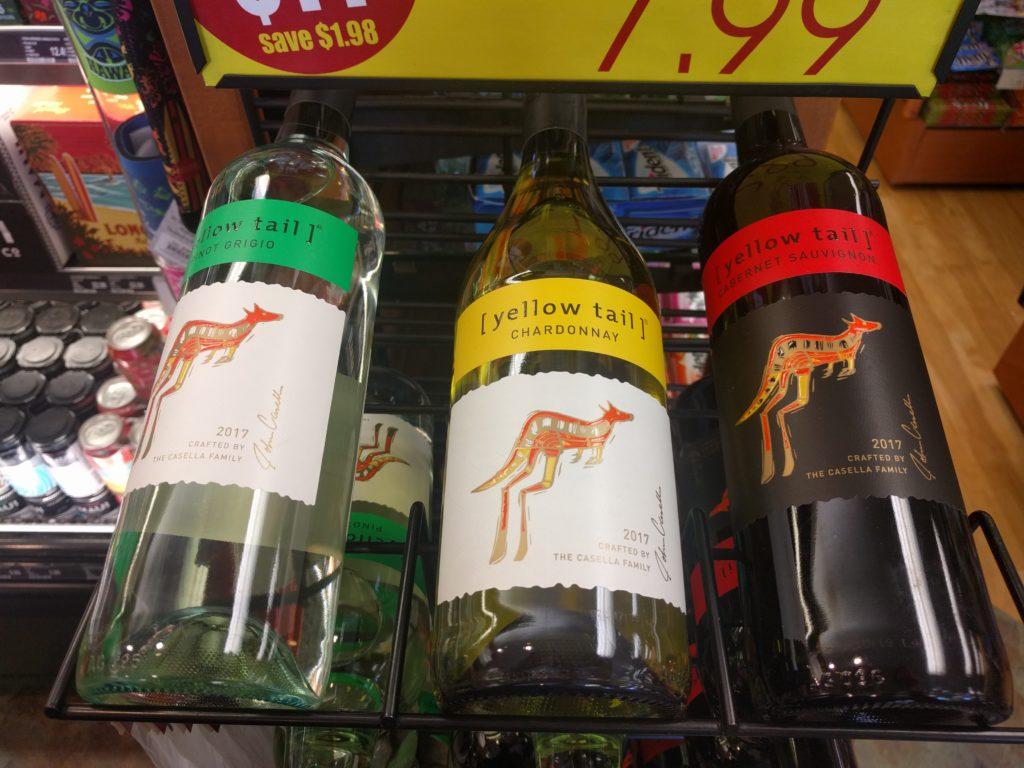 Aux ABC Stores, ils vendent vraiment de tout! Même du vin... Australien