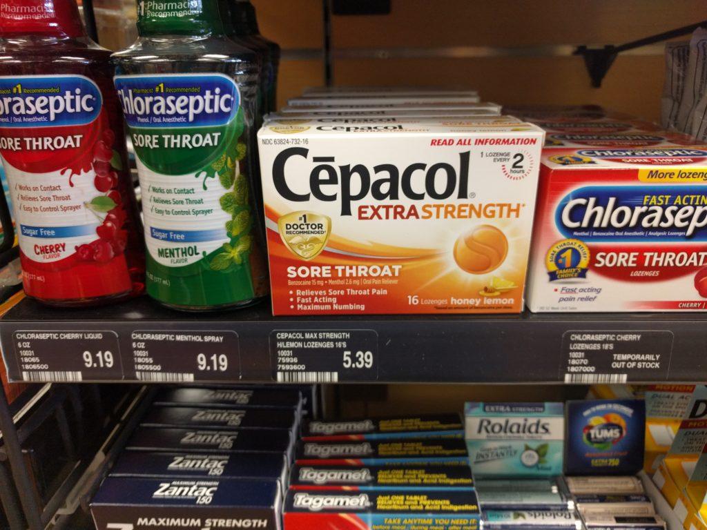 Avoir mal à la gorge, Cépacol du tout!