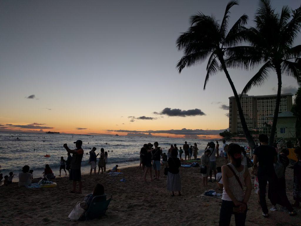 Coucher de soleil sur Waikiki
