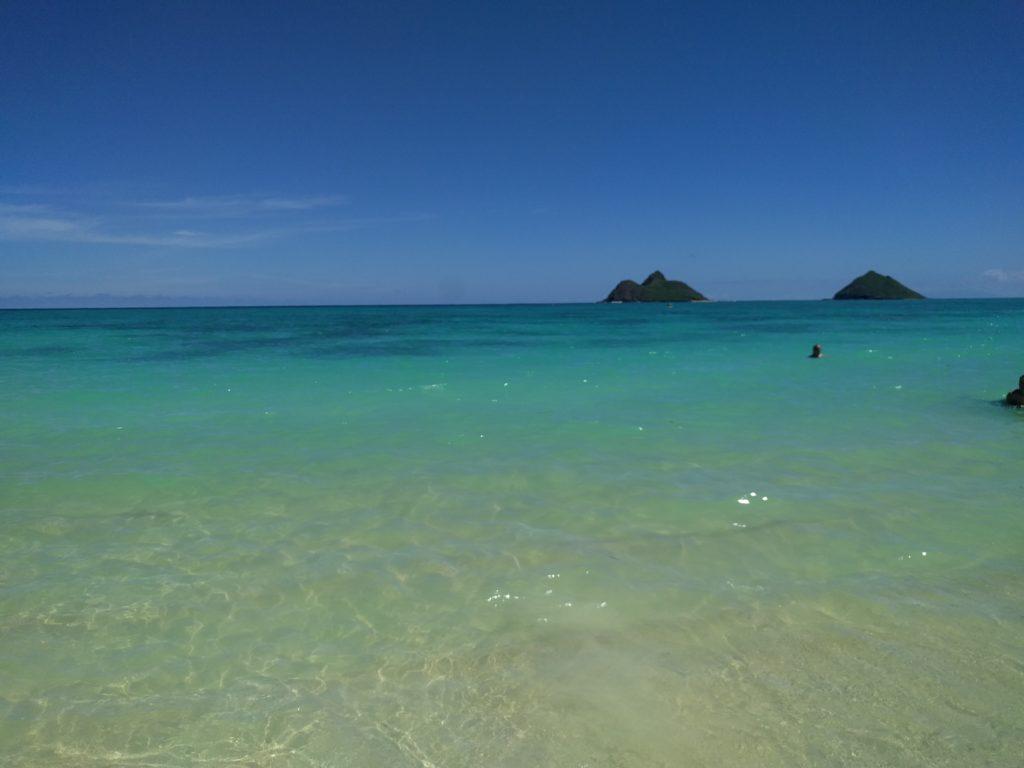Eau sur Lanikai Beach