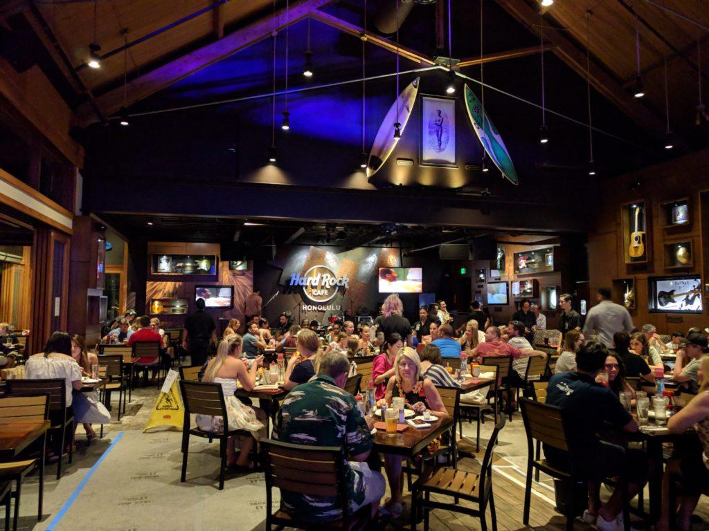 Intérieur du Hard Rock Café
