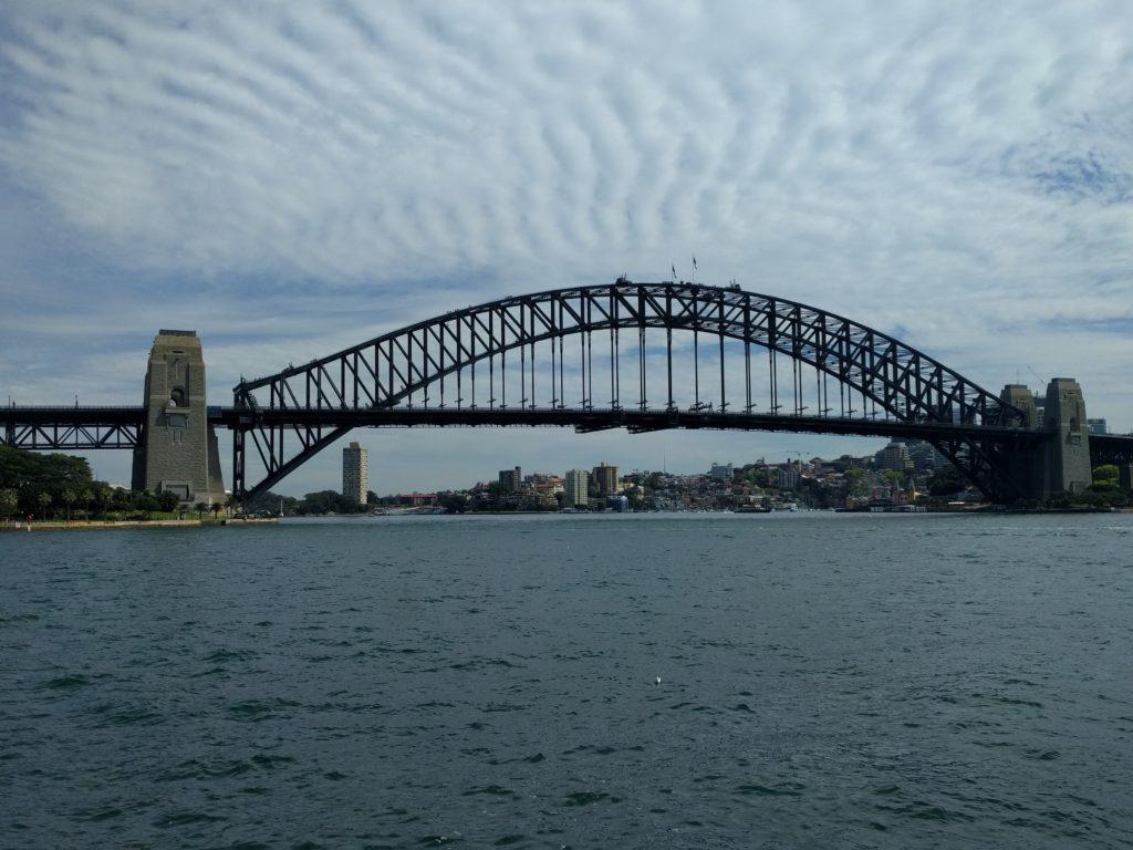 Le Harbour Bridge sous le soleil c'est mieux... Mais si il y a du soleil!