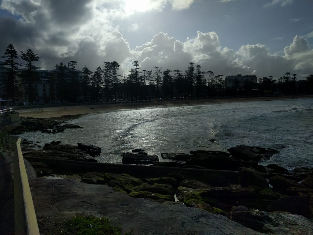 Manly Beach à contre jour