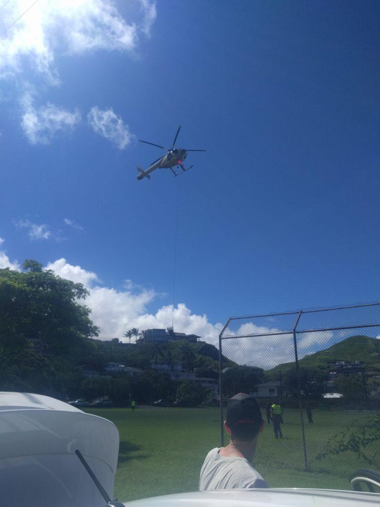 Nous avons même assisté à une évacuation par hélico