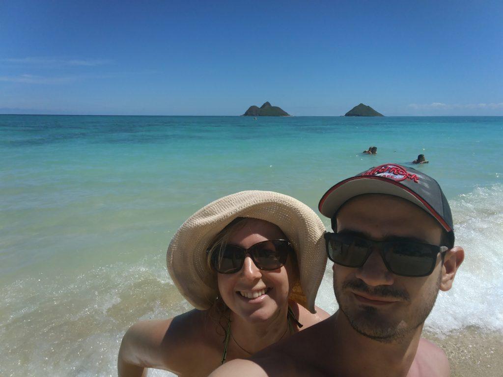 Nous sur Lanikai Beach