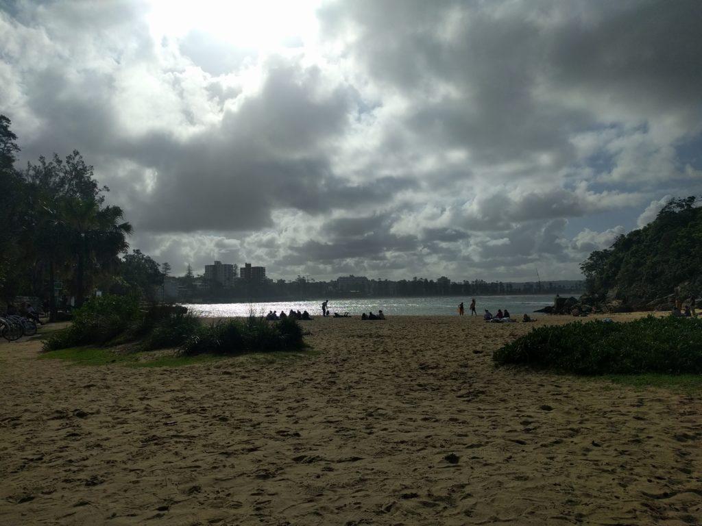 Photo prise depuis Shelly Beach - A contre jour mais il faisait beau!