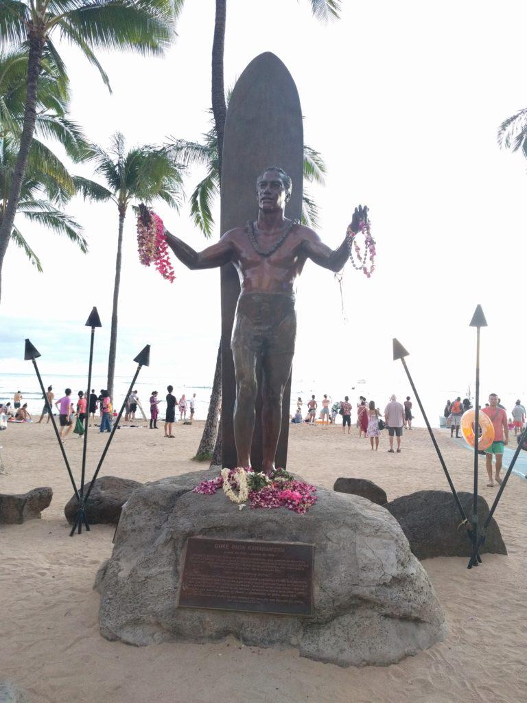 Statue de Duke Paoa Kahanamoku