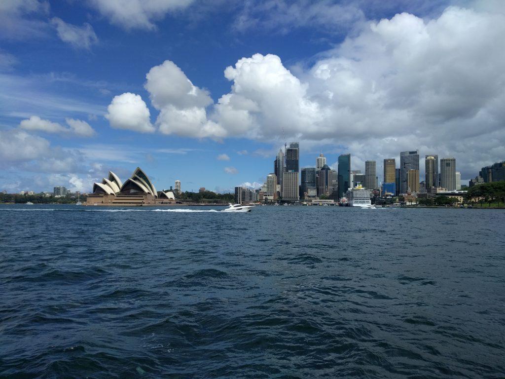 Vue de Sydney depuis la berge Nord