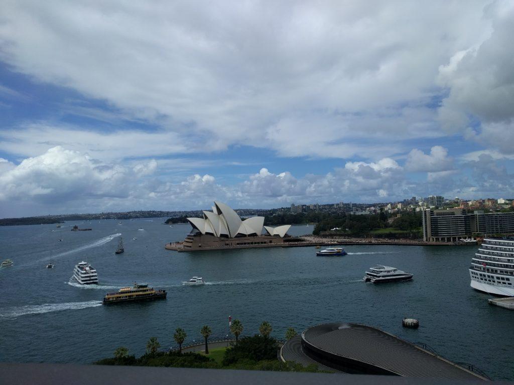 Vue de l'opéra depuis le Harbour Bridge
