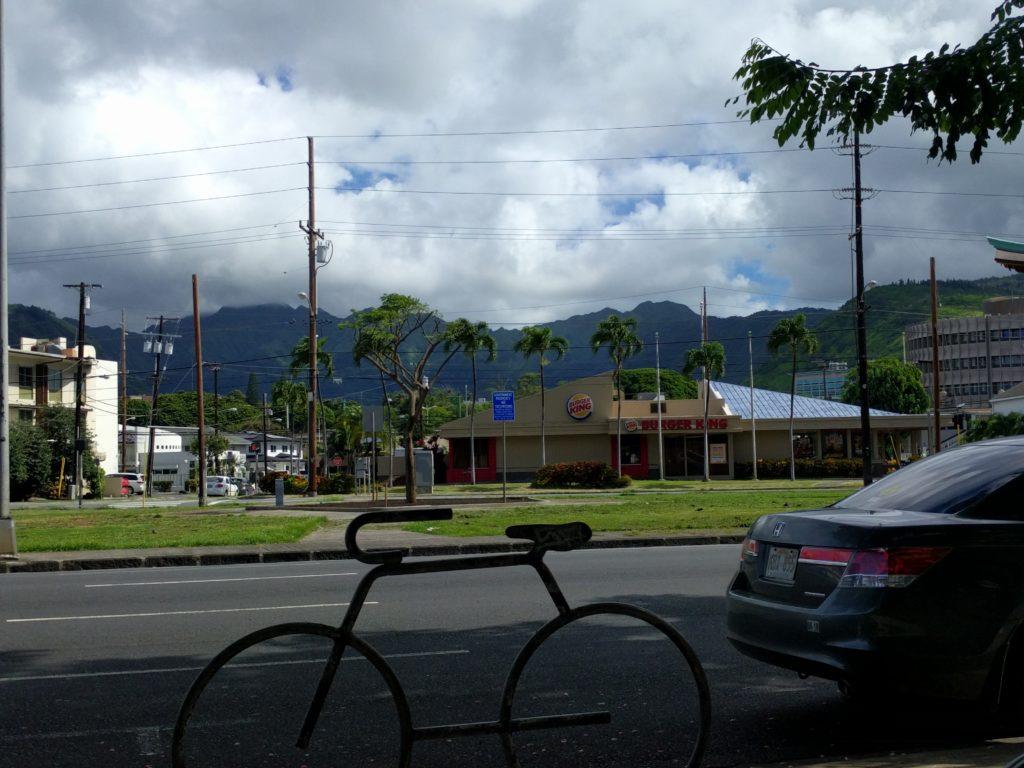 Vue de notre quartier à Honolulu 1