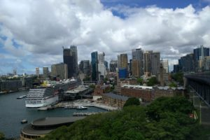 Vue du centre d'affaires de Sydney depuis le Harbour Bridge