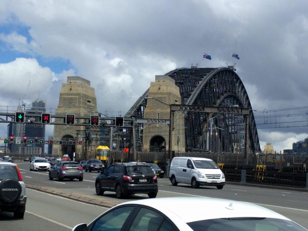 Vue sur les voies du Harbour Bridge
