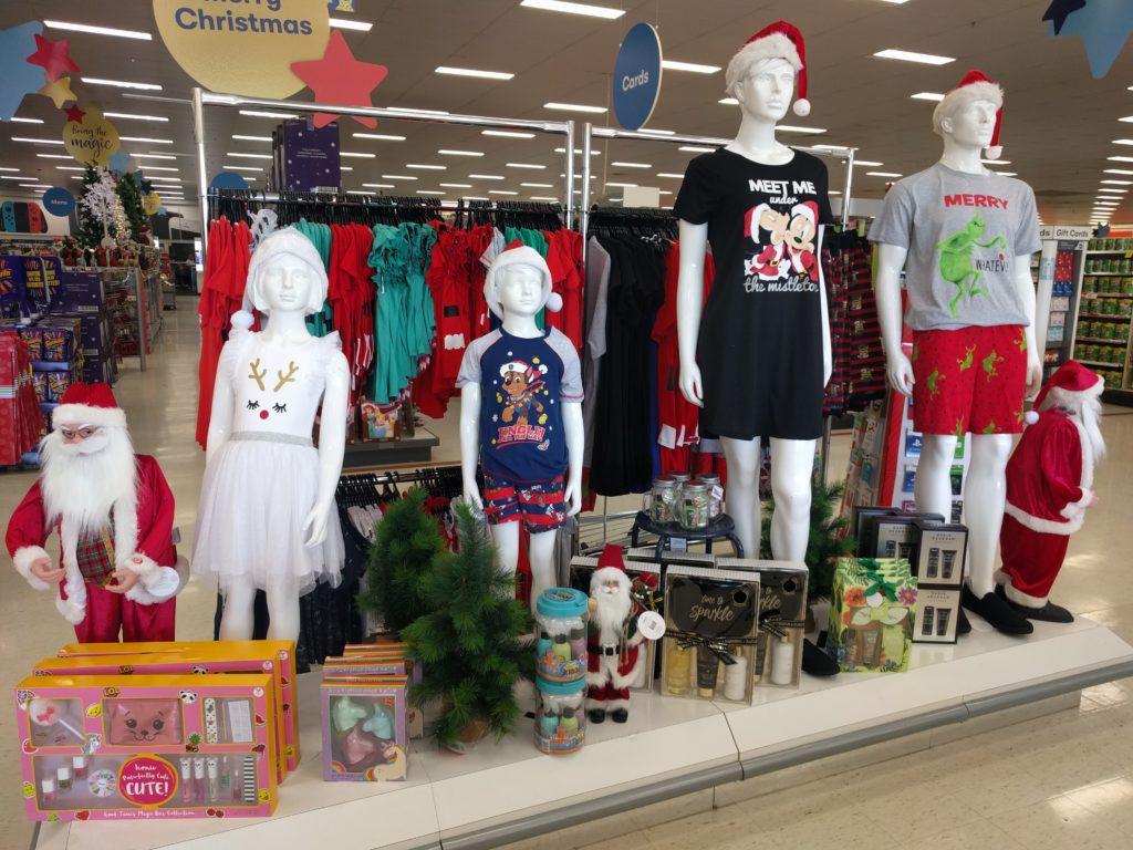 Décoration de Noël dans un magasin australien