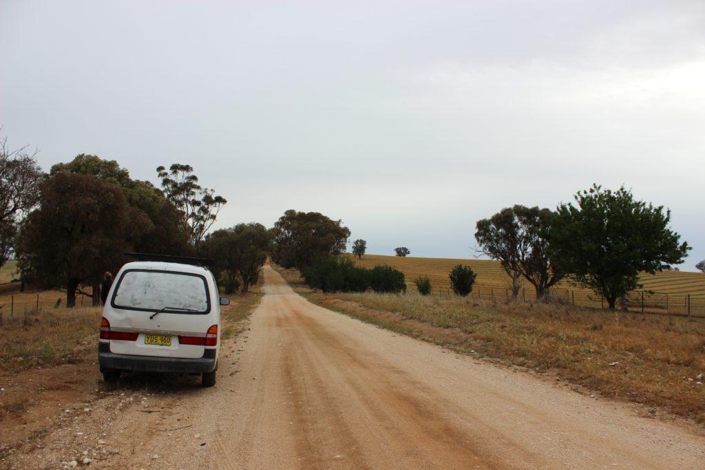 Notre van au bord de la scenic drive