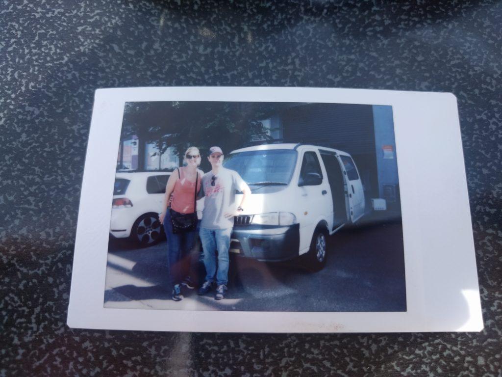Photo souvenir de l'achat du van