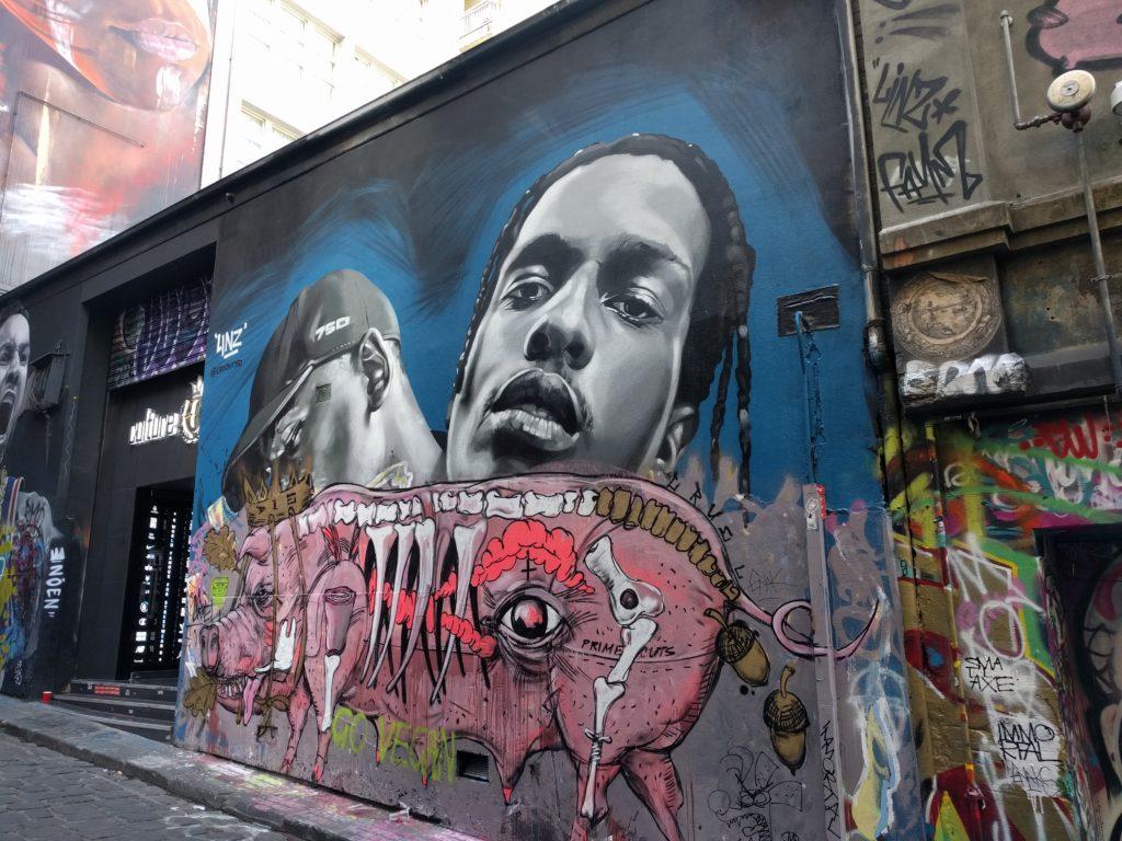 Hosier Lane, Melbourne est réputée pour le Street Art