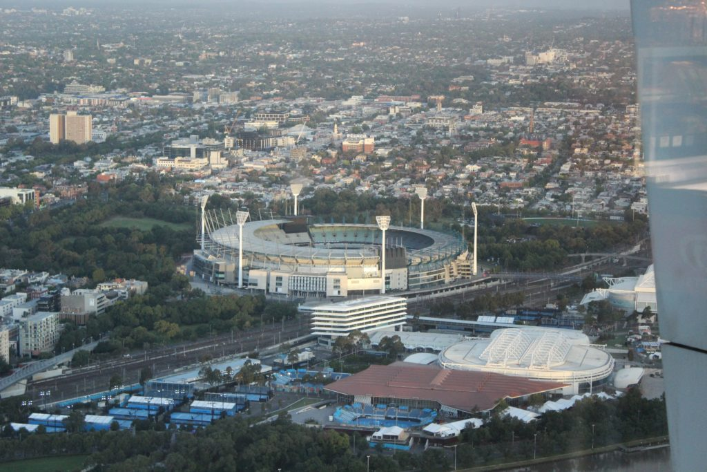 Le Melbourne Cricket Ground depuis l'Eureka Tower