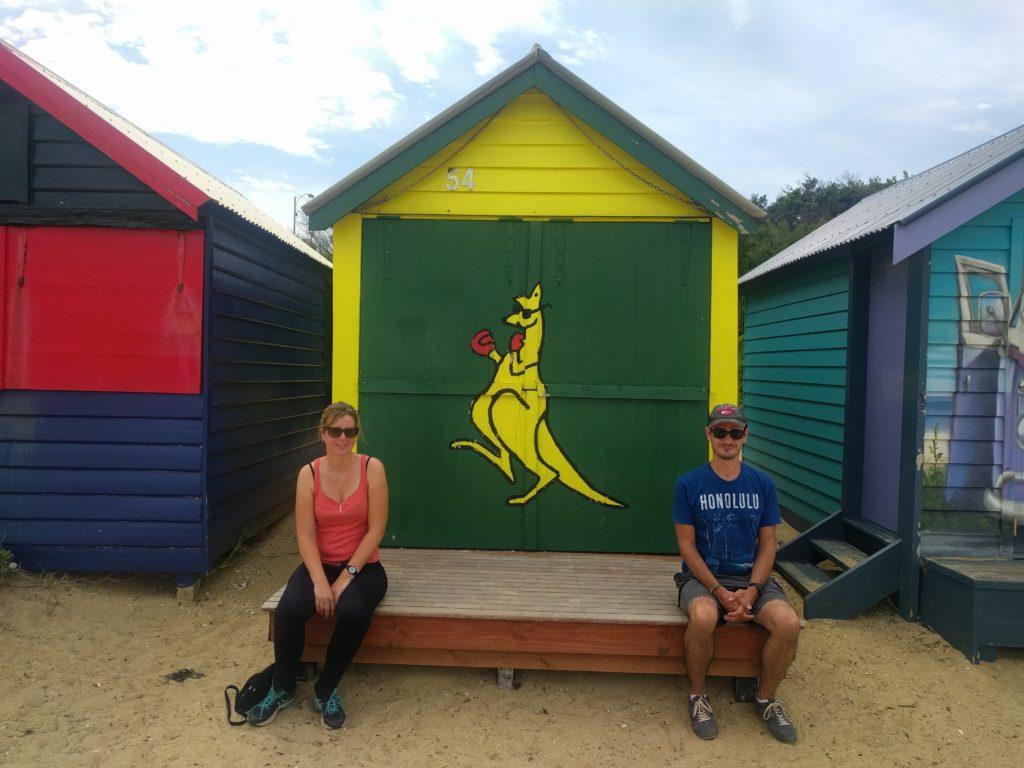 Une des nombreuses cabines de Brighton Beach