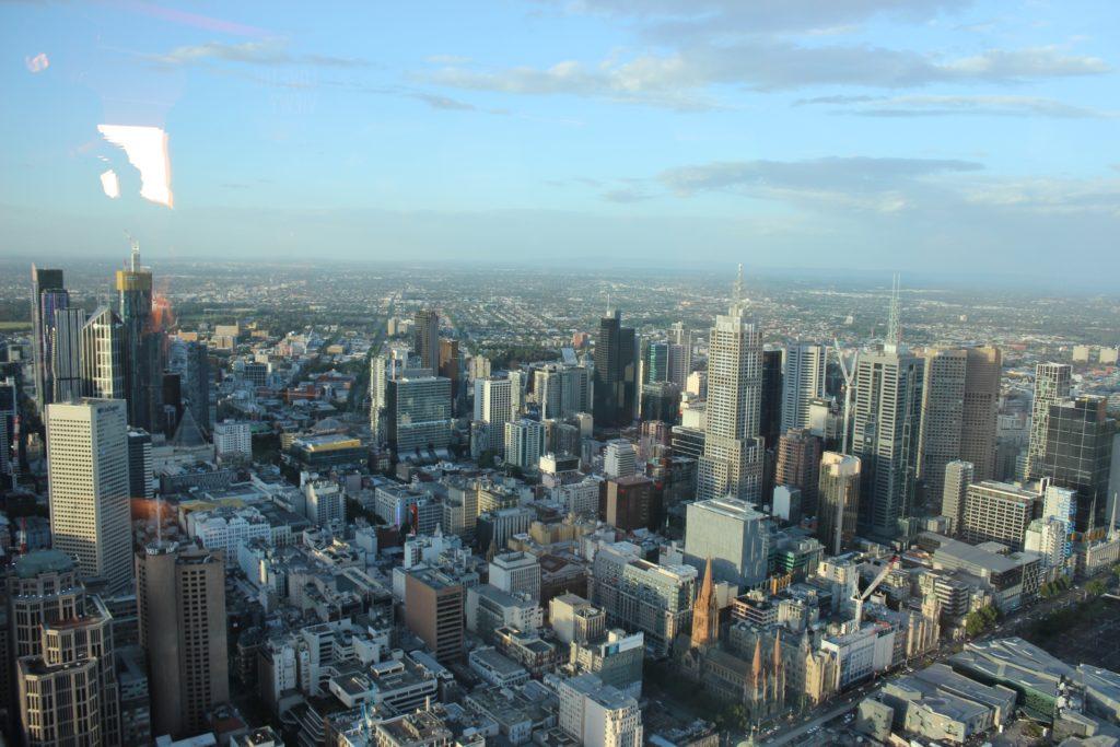 Vue du CBD de Melbourne depuis l'Eureka Tower