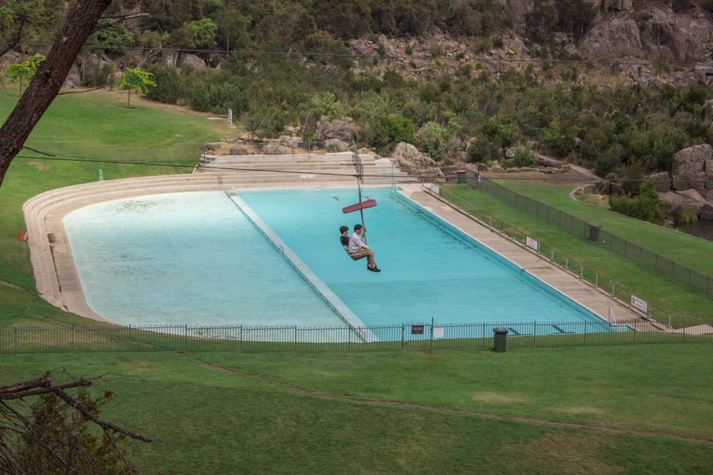 Piscine vers la Cataract Gorge