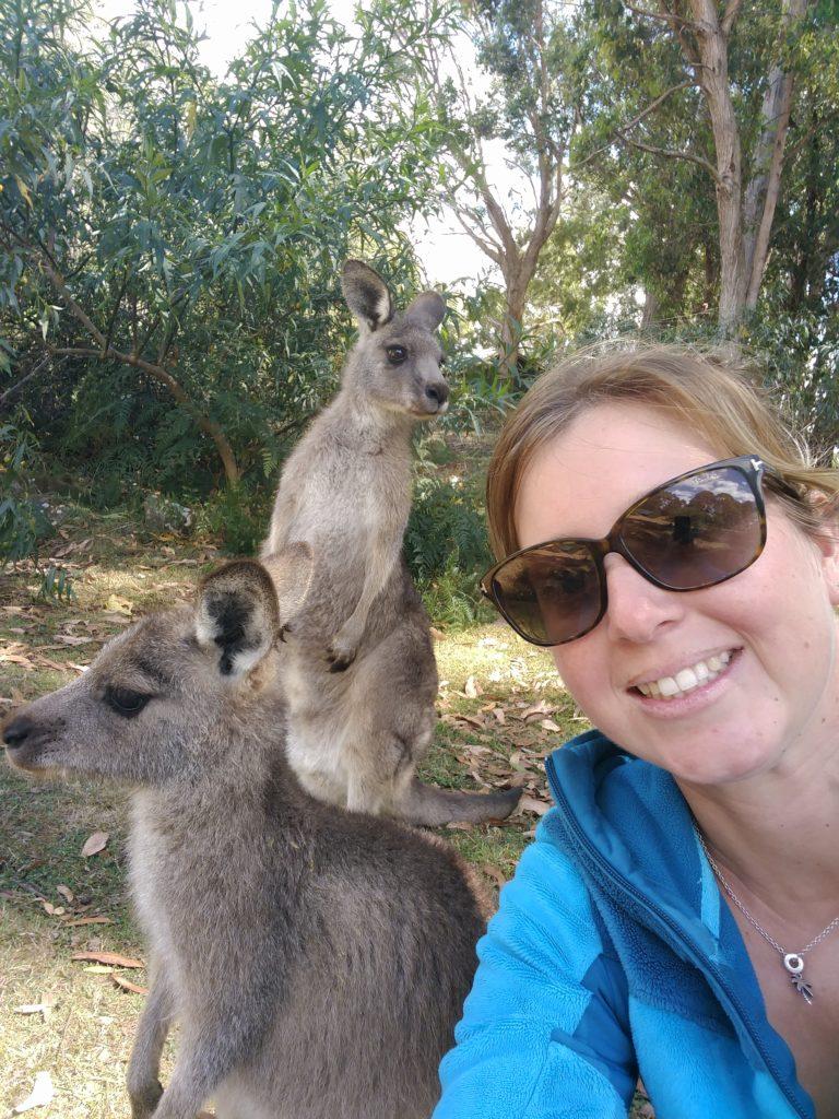Selfie kangouroux de Laura