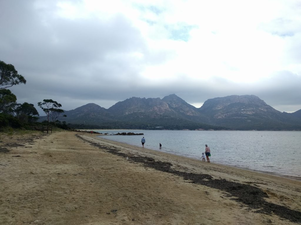 Vue sur Richardsons Beach au Freycinet National Park