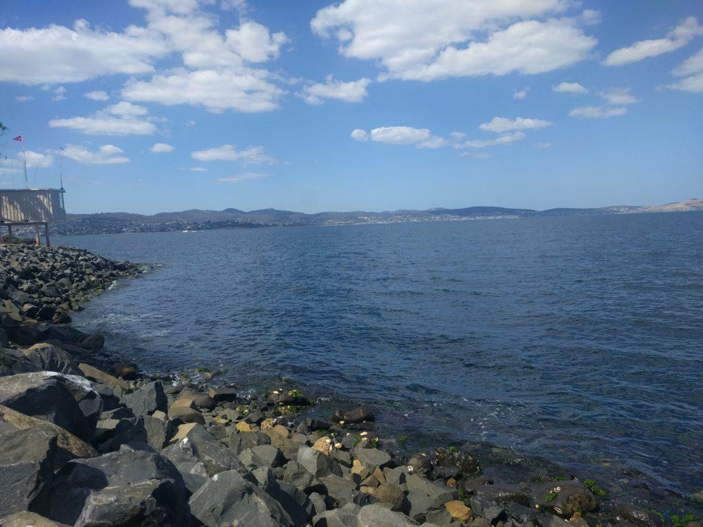 Vue sur la baie d'Hobart