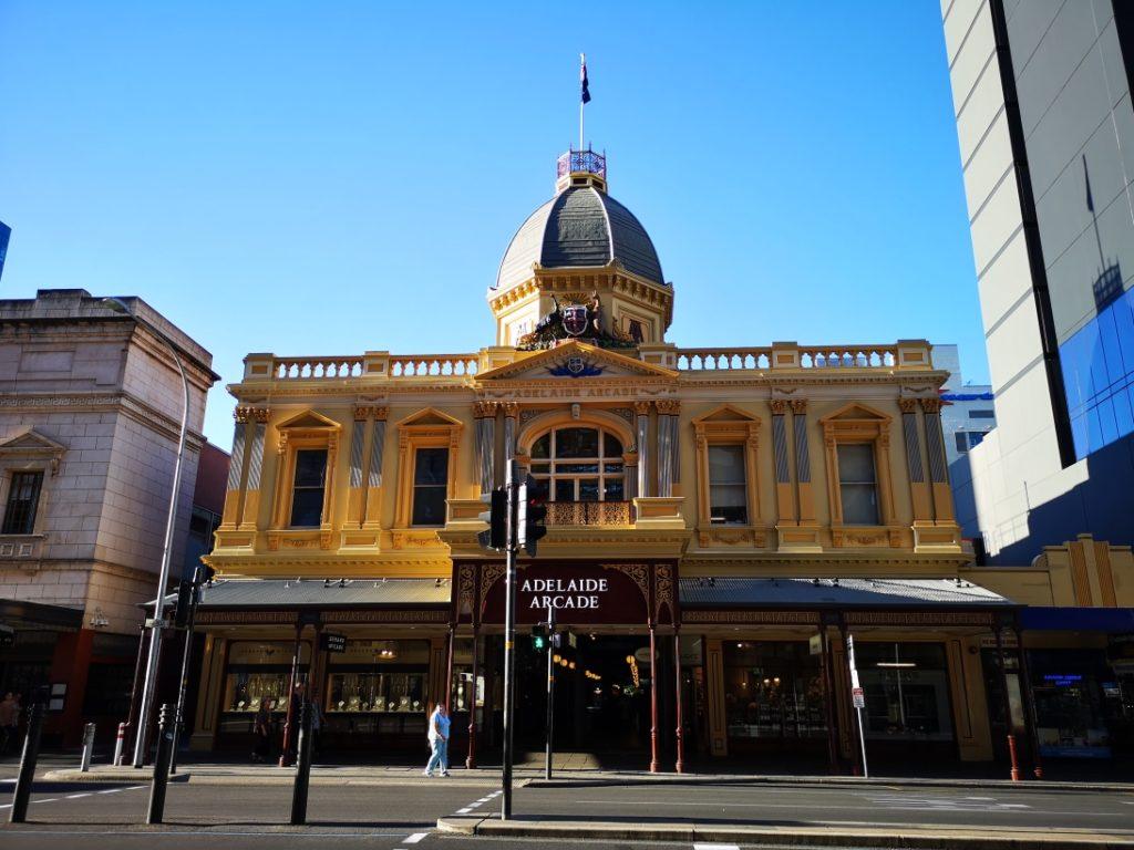 Adelaide Arcade, l'une des nombreuses galeries commerçantes d'Adelaide