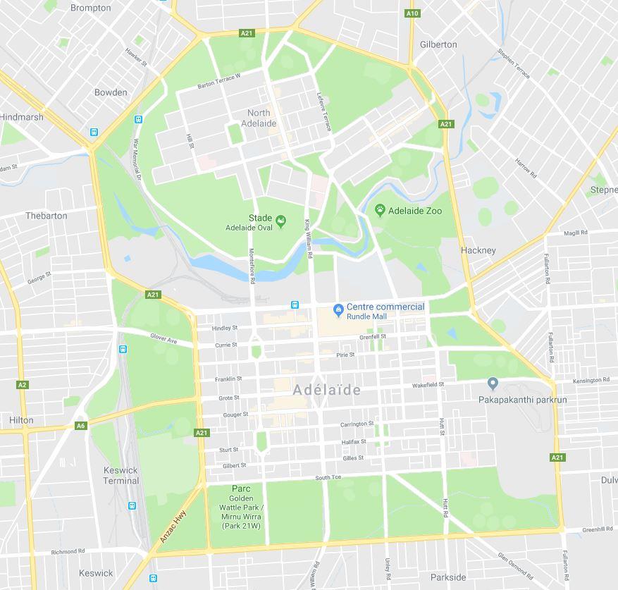 Centre ville d'Adelaide