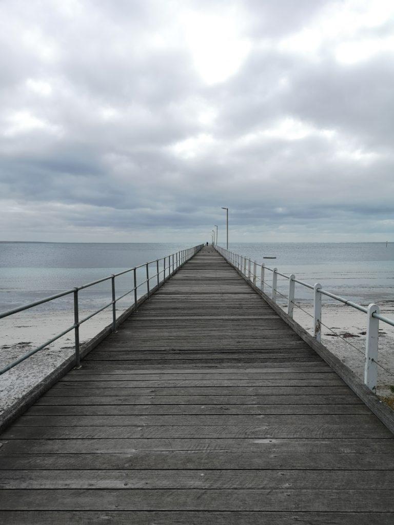 La jetée de Port Neil. Apparemment une photo magnifique à prendre... Doit être mieux avec du soleil