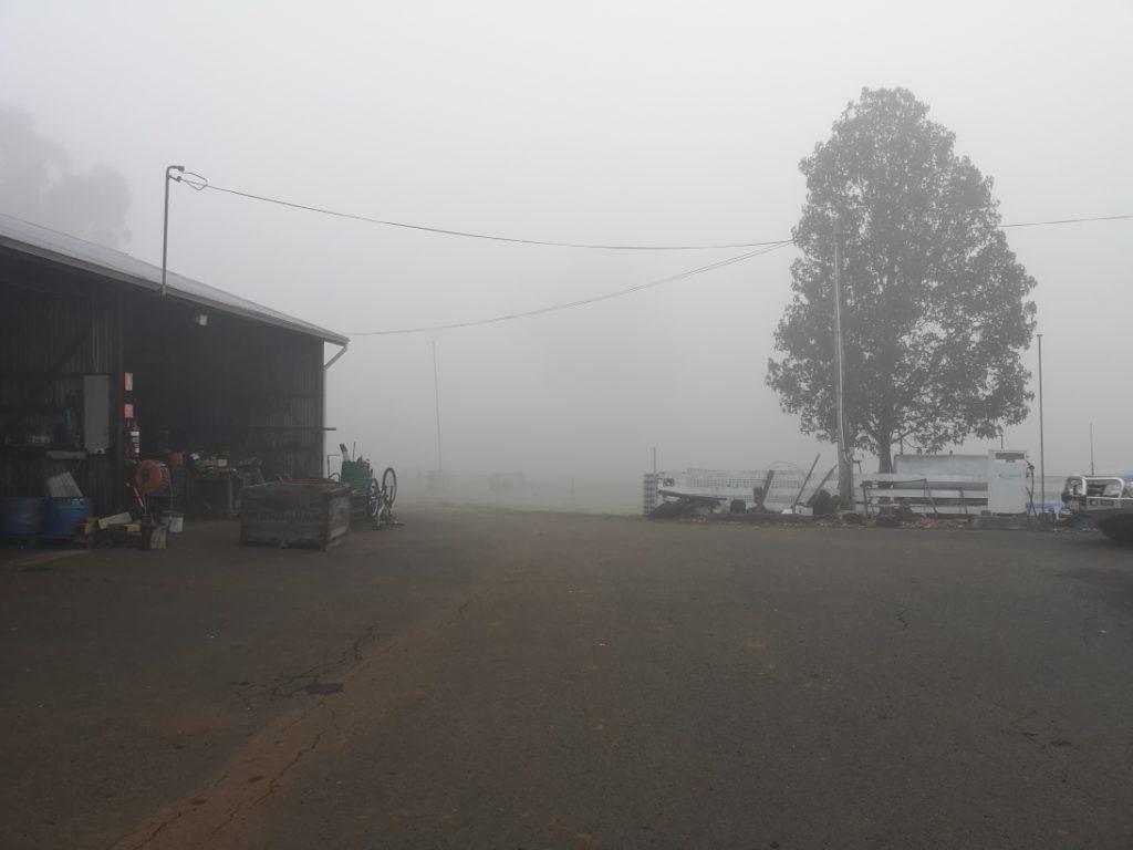 Une journée particulièrement brumeuse