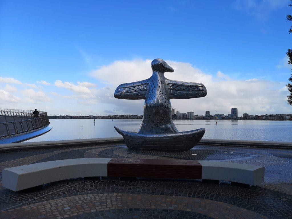 Sculpture de Pingouin à Elizabeth Quay