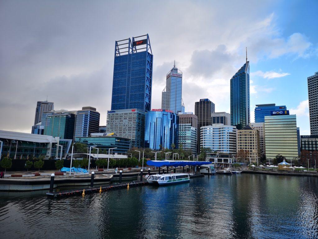 Le CBD de Perth vu depuis Elizabeth Quay