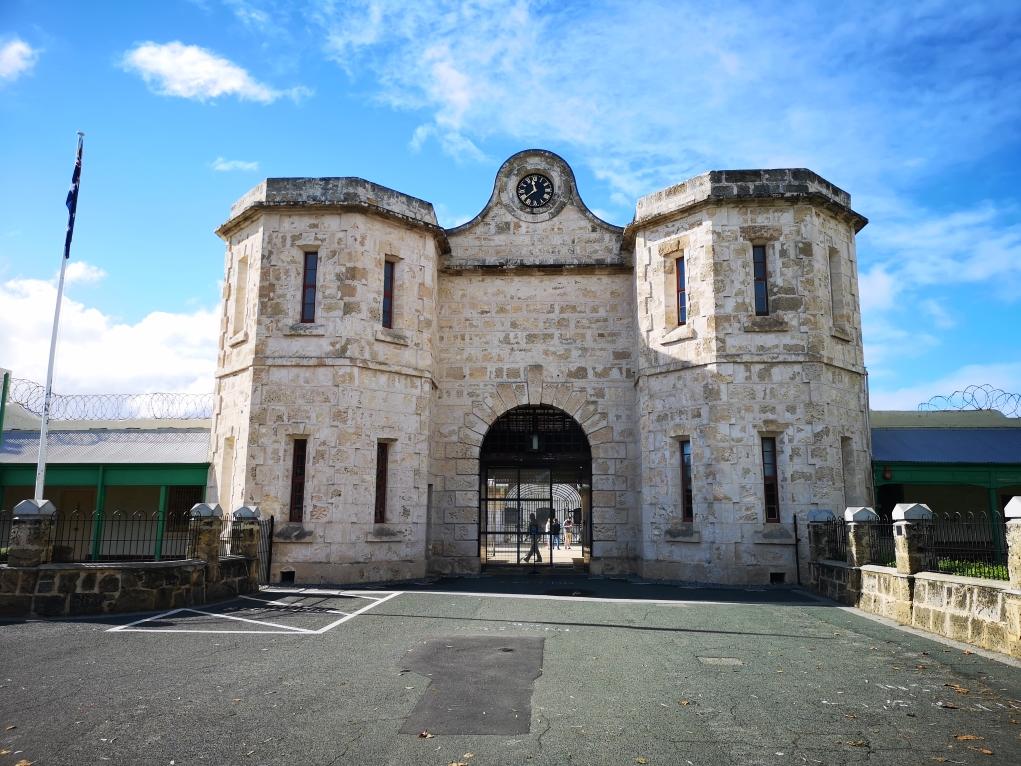 La porte de la prison de Fremantle