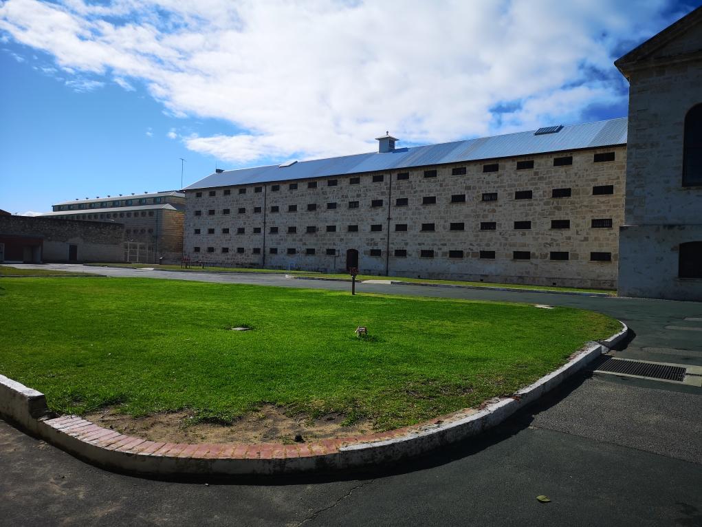Une partie de la cour de la prison de Fremantle