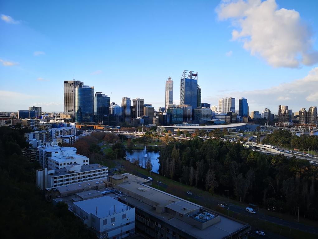 Vue du CBD de Perth depuis Kings Park