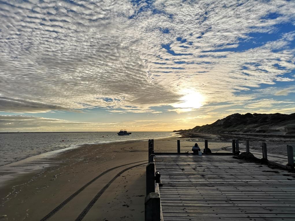 Coucher de soleil sur Port Gregory