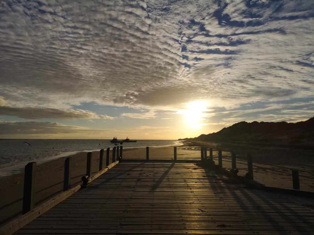 Coucher de soleil sur Port Gregory - 2