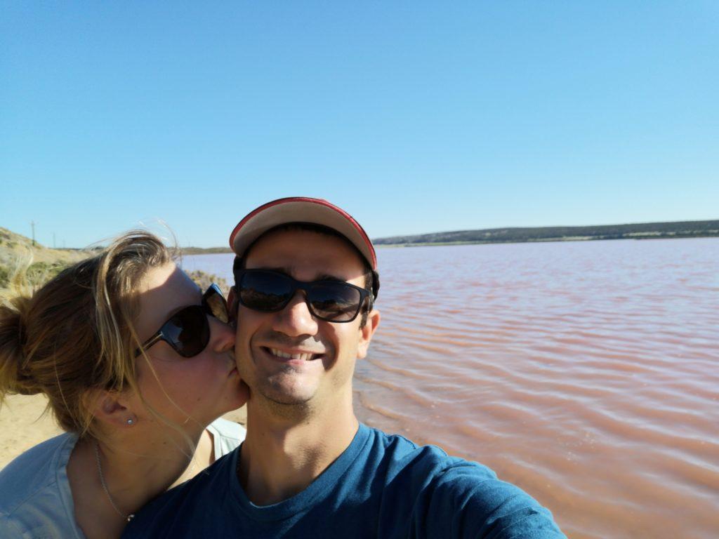 Nous devant l'Hutt Lagoon