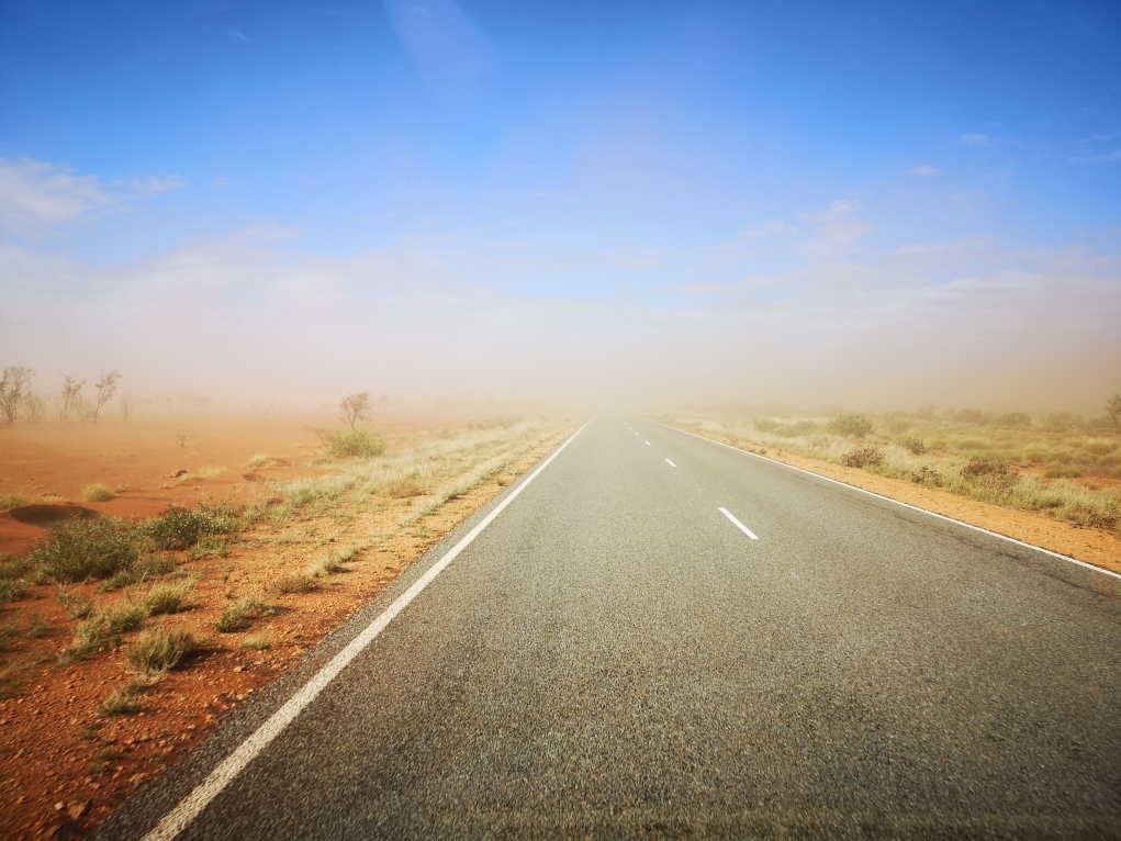 Plus beaucoup de visibilité sur la route...