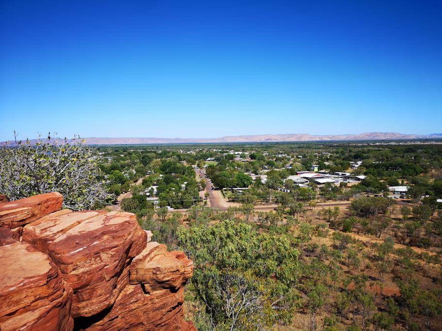 Point de vue sur Kununurra, une oasis verte au milieu du désert