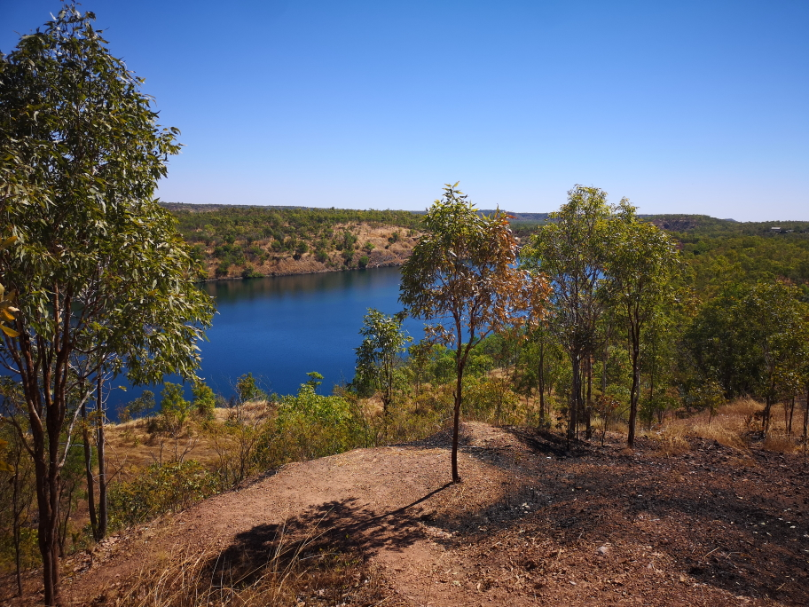 Le lac de Pine Creek, ancienne mine d'or