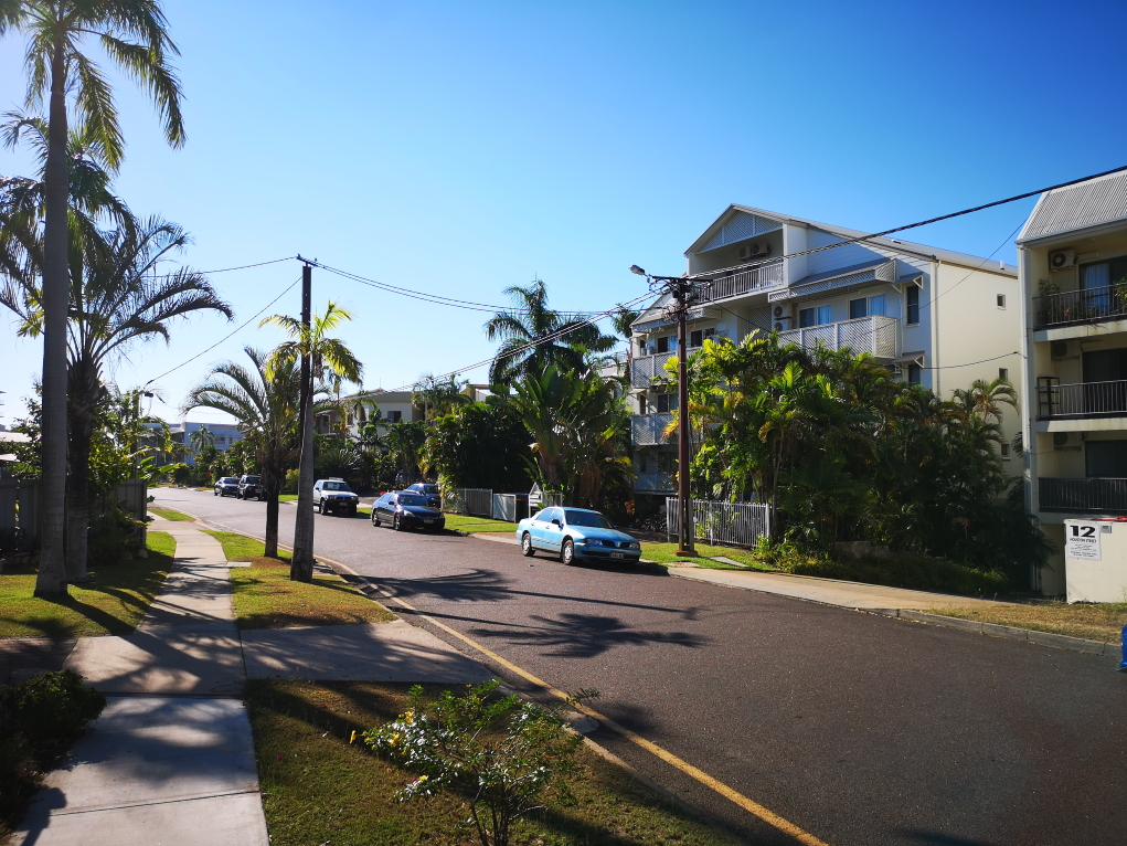 Rue résidentielle à Darwin
