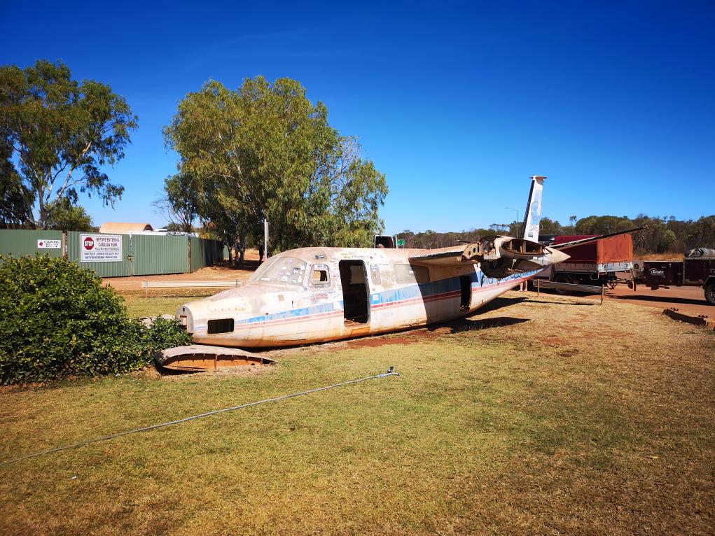 Un avion qui s'est peut-être échoué ici?