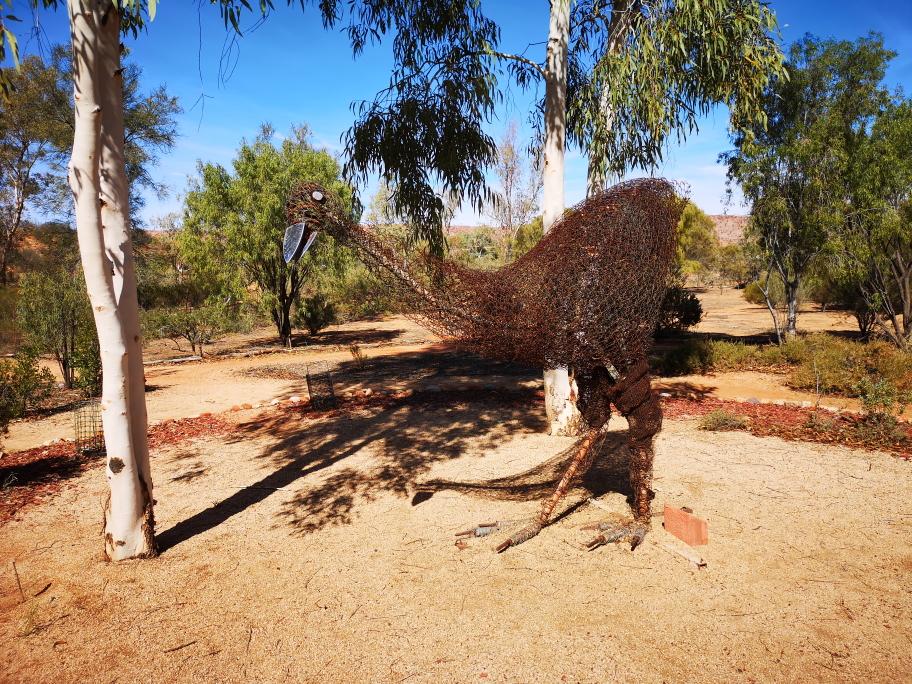 Une statue Emeu au Botanic Gardens