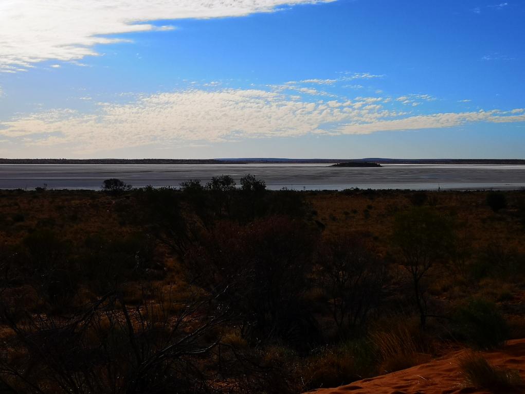 Les lacs salés depuis la dune