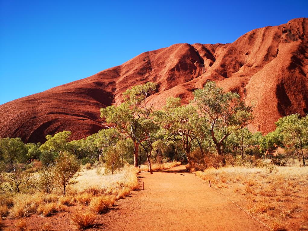 C'est parti pour la marche autour de l'Uluru