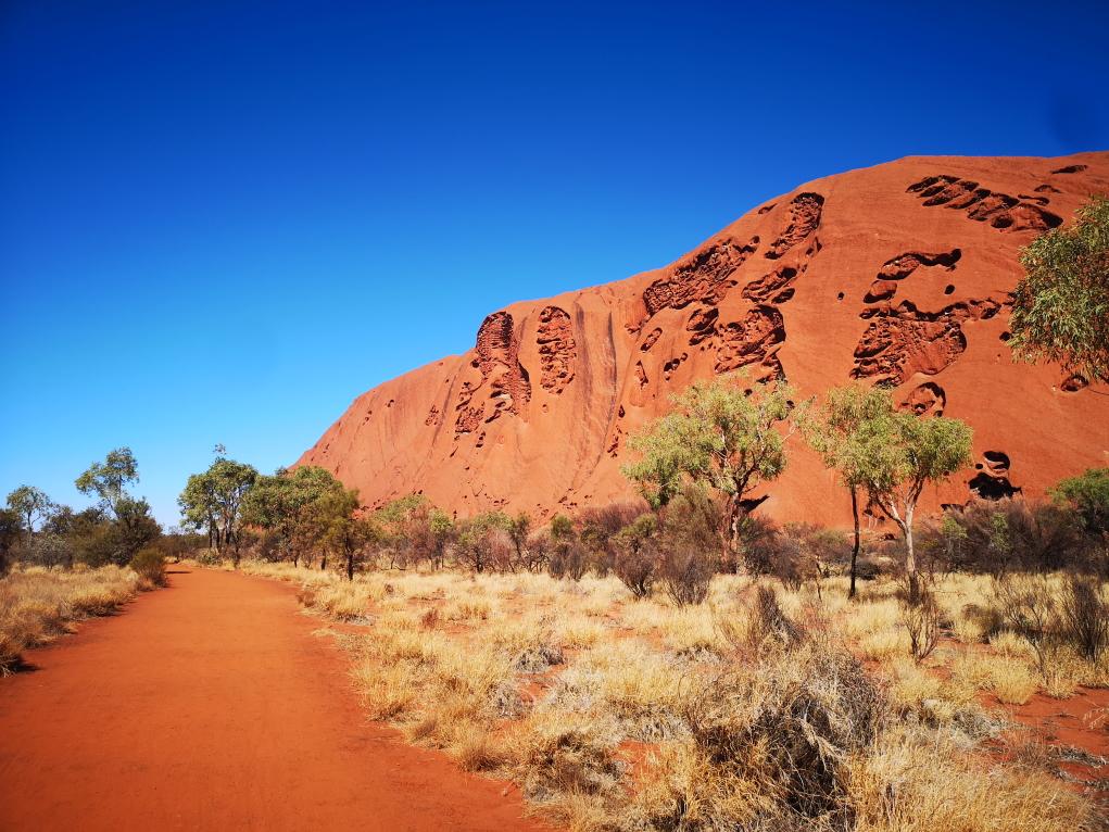 L'Uluru vu depuis le Nord