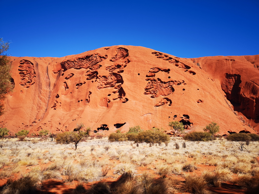 L'Uluru vu depuis le Nord-Est