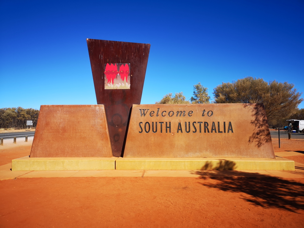 Aire de repos: frontière entre le Northern Territory et le South Australia
